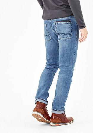 Tubx Straight: Jeans mit Gürtel