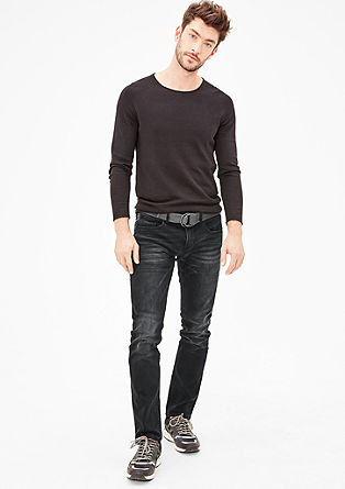 Close Slim: grey stretch jeans from s.Oliver