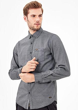 Slim: Hemd aus leichtem Twill