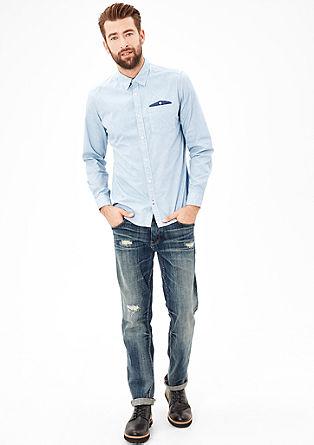 Slim: Gemustertes Hemd mit Brusttasche