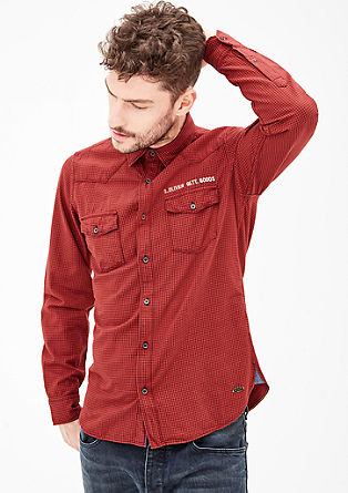 Regular: check shirt with chest pockets from s.Oliver