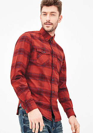 Slim: classic check shirt from s.Oliver