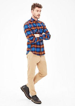 Slim: Kariertes Langarmhemd