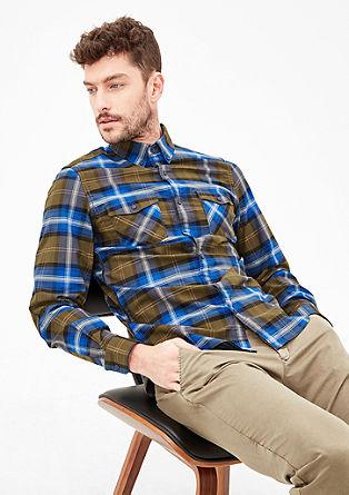 Slim: károvaná košile sdlouhým rukávem