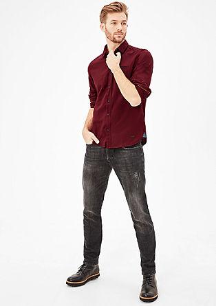 Slim: Baumwollhemd mit Muster