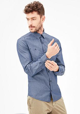 Regular: Hemd mit feinen Streifen