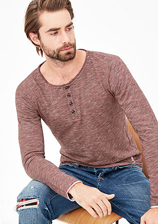 Striped Henley top made of jersey from s.Oliver