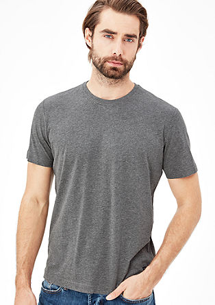T-shirt with a crew neckline from s.Oliver