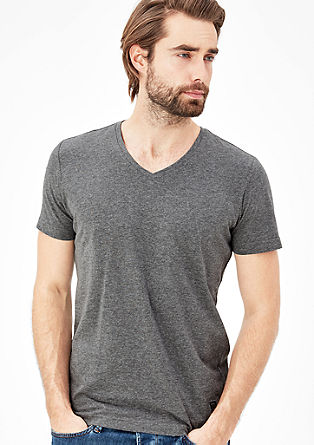 V-neck T-shirt in a slim fit from s.Oliver