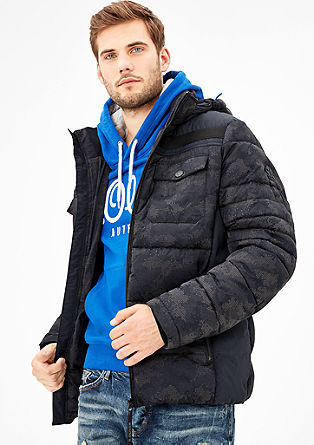 Padded outdoor jacket with a hood from s.Oliver