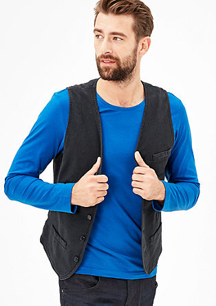 Waistcoat with a textured pattern from s.Oliver