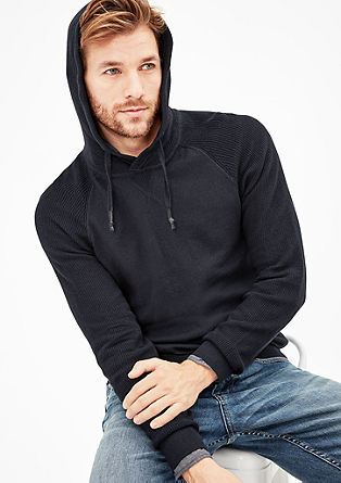 Hooded jumper with cashmere from s.Oliver
