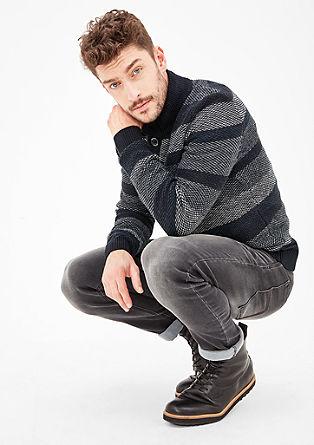 Pullover mit Wabenmuster-Streifen