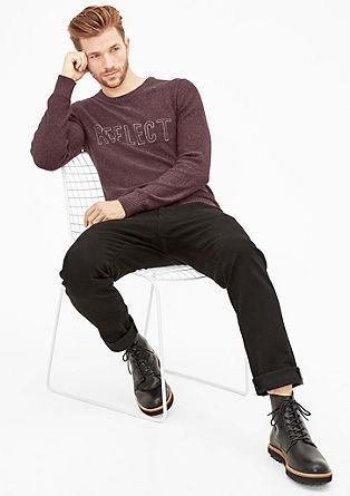 Meliran pleten pulover z vezenino