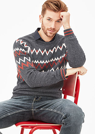 Warm jumper with a zigzag pattern from s.Oliver