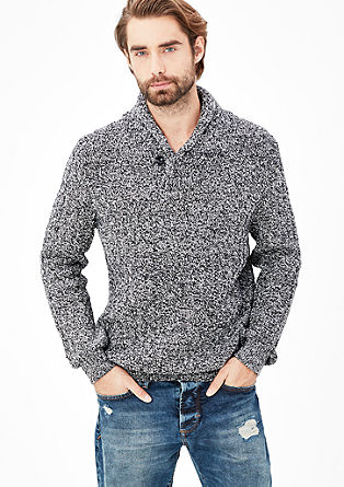 Pullover aus Musterstrick