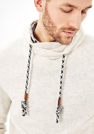 Strickpullover mit Schalkragen