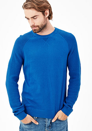 Raglan-Pullover mit Kaschmir