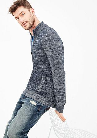 Ležérní pletený kabát smelírovaným vzhledem
