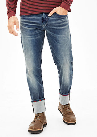 Tubx straight: garment-washed jeans