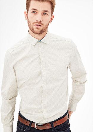 Regular: Patterned long sleeve shirt from s.Oliver
