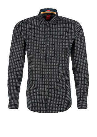 Slim: Patterned long sleeve shirt from s.Oliver