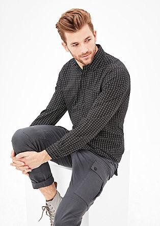 Slim: overhemd met lange mouwen en motiefje
