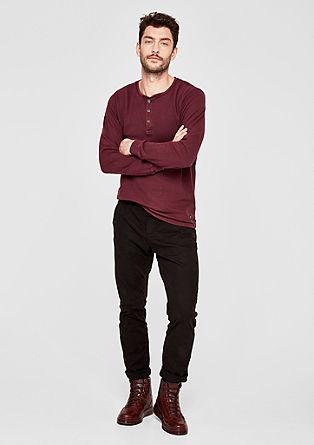 Henleyshirt aus Jaquard