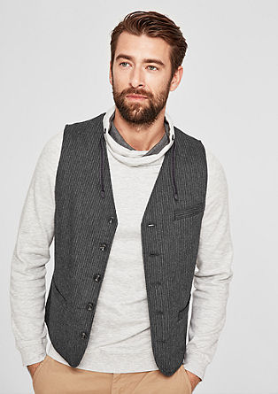 Waistcoat with pinstripes from s.Oliver