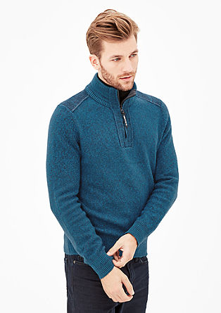 Funnel neck jumper with ribbed details from s.Oliver