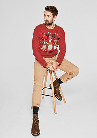 Christmas jumper in a smooth, fine knit from s.Oliver
