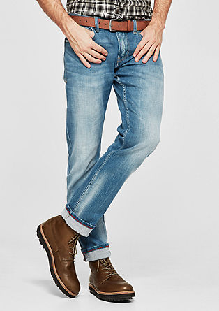 Close slim: jeans in used look
