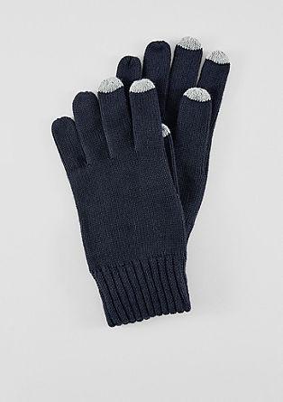 Strickhandschuhe aus Baumwolle
