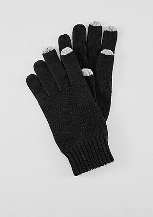 Knit cotton gloves from s.Oliver