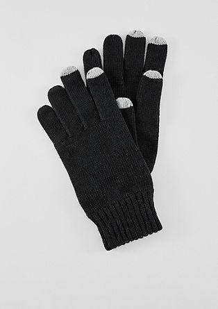 Pletené rukavice zbavlny