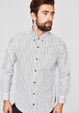Regular: Gestreiftes Button-Down-Hemd