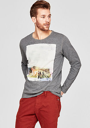 Majica iz plamenaste preje s potiskom