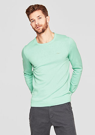 Basic Pullover mit Crew Neck