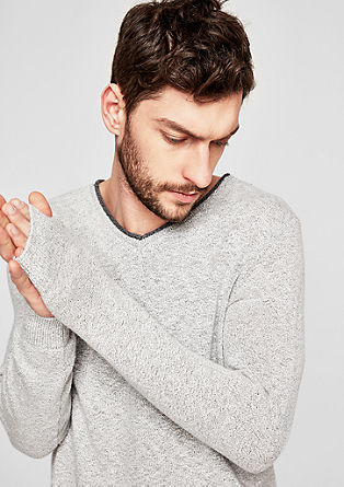Jumper with a V-neckline from s.Oliver