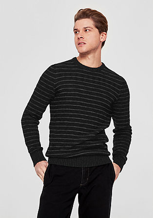 Jumper with a stripe pattern from s.Oliver