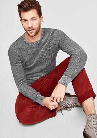 Pletený pulovr zbavlny