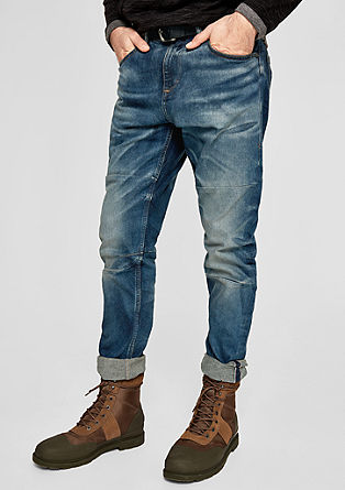 Tubc Tapered: Jeans im Used-Look