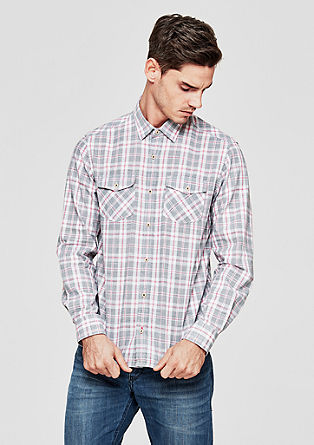 Regular: Check shirt with breast pockets from s.Oliver