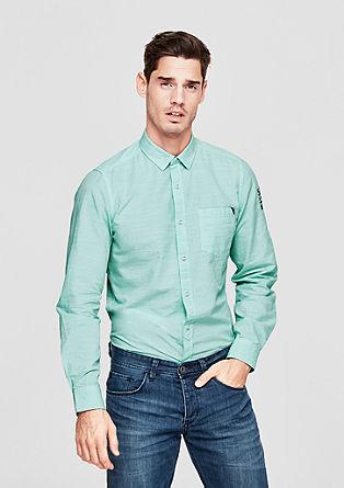 Slim: Strukturhemd aus Baumwolle
