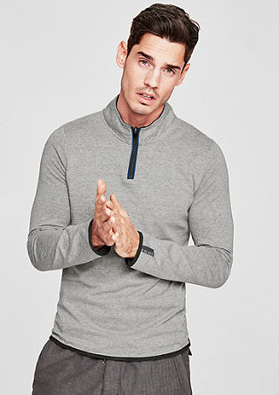 Long sleeve top in an athleisure look from s.Oliver