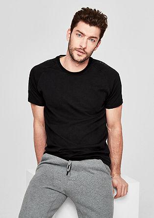 Slim: T-Shirt im Athleisure-Look