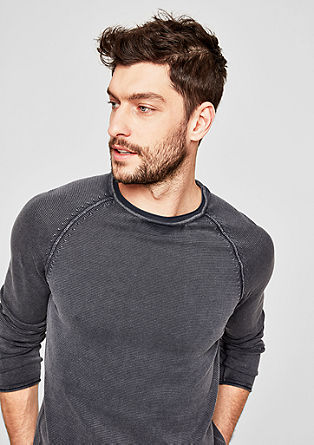 Garment-dyed knit jumper from s.Oliver