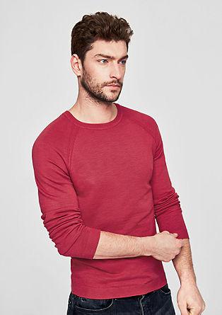 Raglánový pulovr z příze slub