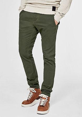 Sneck Slim: elastické keprové kalhoty chino
