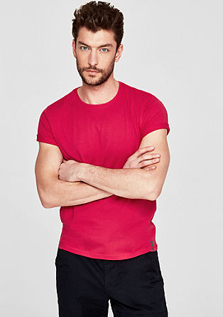 T-shirt with a round neckline from s.Oliver